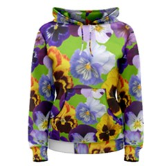 Spring Pansy Blossom Bloom Plant Women s Pullover Hoodie