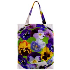 Spring Pansy Blossom Bloom Plant Zipper Classic Tote Bag