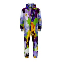 Spring Pansy Blossom Bloom Plant Hooded Jumpsuit (kids)