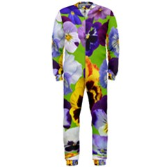 Spring Pansy Blossom Bloom Plant Onepiece Jumpsuit (men)
