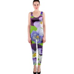 Spring Pansy Blossom Bloom Plant OnePiece Catsuit