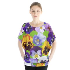 Spring Pansy Blossom Bloom Plant Blouse
