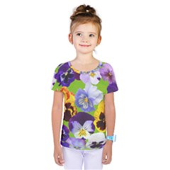 Spring Pansy Blossom Bloom Plant Kids  One Piece Tee