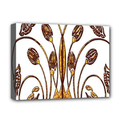 Scroll Gold Floral Design Deluxe Canvas 16  X 12