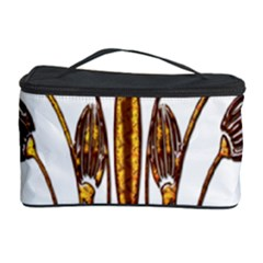 Scroll Gold Floral Design Cosmetic Storage Case