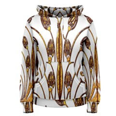 Scroll Gold Floral Design Women s Pullover Hoodie
