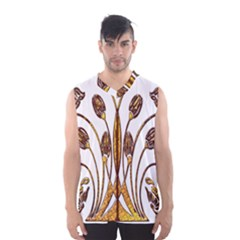 Scroll Gold Floral Design Men s Basketball Tank Top