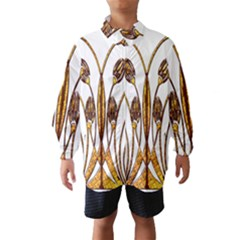 Scroll Gold Floral Design Wind Breaker (Kids)