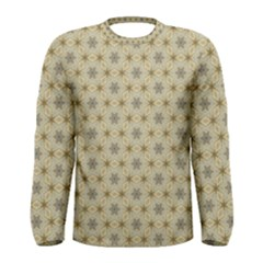 Star Basket Pattern Basket Pattern Men s Long Sleeve Tee