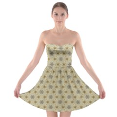 Star Basket Pattern Basket Pattern Strapless Bra Top Dress