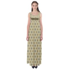 Star Basket Pattern Basket Pattern Empire Waist Maxi Dress