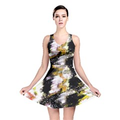 Canvas Acrylic Digital Design Reversible Skater Dress