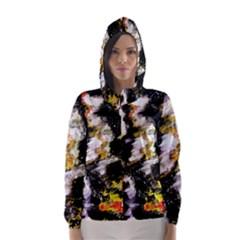 Canvas Acrylic Digital Design Hooded Wind Breaker (Women)