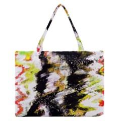 Canvas Acrylic Digital Design Medium Zipper Tote Bag