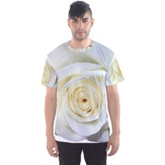 Flower White Rose Lying Men s Sport Mesh Tee