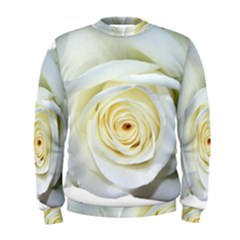 Flower White Rose Lying Men s Sweatshirt