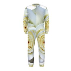 Flower White Rose Lying Onepiece Jumpsuit (kids)