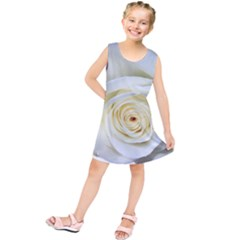 Flower White Rose Lying Kids  Tunic Dress