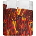 Effect Pattern Brush Red Orange Duvet Cover Double Side (California King Size) View1