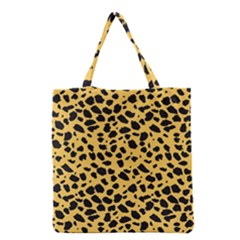 Skin Animals Cheetah Dalmation Black Yellow Grocery Tote Bag