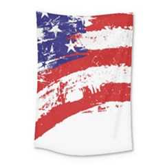Red White Blue Star Flag Small Tapestry