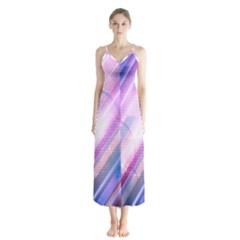 Widescreen Polka Star Space Polkadot Line Light Chevron Waves Circle Chiffon Maxi Dress