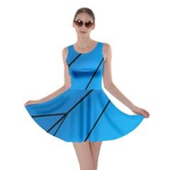 Technical Line Blue Black Skater Dress