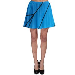 Technical Line Blue Black Skater Skirt