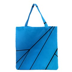 Technical Line Blue Black Grocery Tote Bag