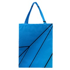 Technical Line Blue Black Classic Tote Bag