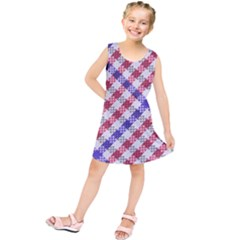 Webbing Wicker Art Red Bluw White Kids  Tunic Dress