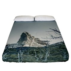 Fitz Roy Mountain, El Chalten Patagonia   Argentina Fitted Sheet (King Size)
