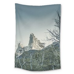 Fitz Roy Mountain, El Chalten Patagonia   Argentina Large Tapestry