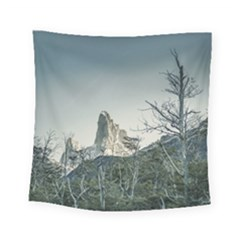 Fitz Roy Mountain, El Chalten Patagonia   Argentina Square Tapestry (Small)