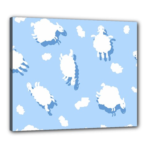 Vector Sheep Clouds Background Canvas 24  X 20