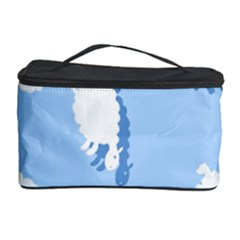 Vector Sheep Clouds Background Cosmetic Storage Case