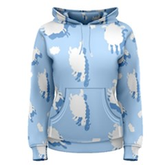 Vector Sheep Clouds Background Women s Pullover Hoodie