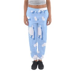 Vector Sheep Clouds Background Women s Jogger Sweatpants