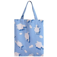 Vector Sheep Clouds Background Zipper Classic Tote Bag