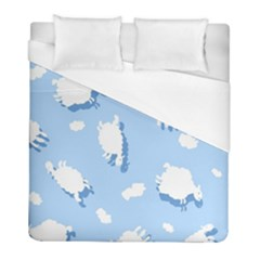 Vector Sheep Clouds Background Duvet Cover (full/ Double Size)