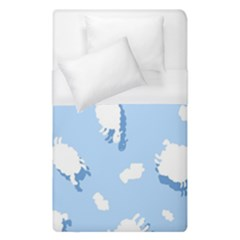 Vector Sheep Clouds Background Duvet Cover (single Size)
