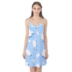 Vector Sheep Clouds Background Camis Nightgown