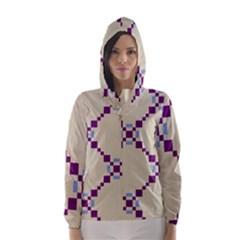 Pattern Background Vector Seamless Hooded Wind Breaker (women)