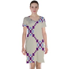 Pattern Background Vector Seamless Short Sleeve Nightdress