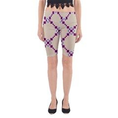 Pattern Background Vector Seamless Yoga Cropped Leggings