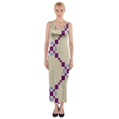 Pattern Background Vector Seamless Fitted Maxi Dress