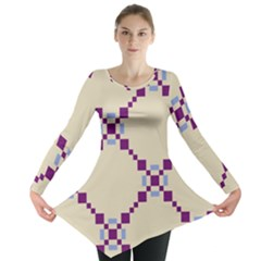 Pattern Background Vector Seamless Long Sleeve Tunic