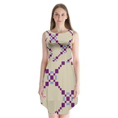 Pattern Background Vector Seamless Sleeveless Chiffon Dress