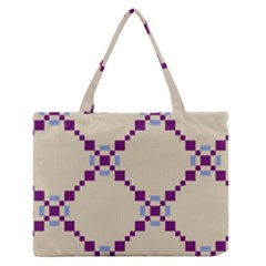Pattern Background Vector Seamless Medium Zipper Tote Bag