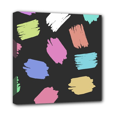Many Colors Pattern Seamless Mini Canvas 8  X 8